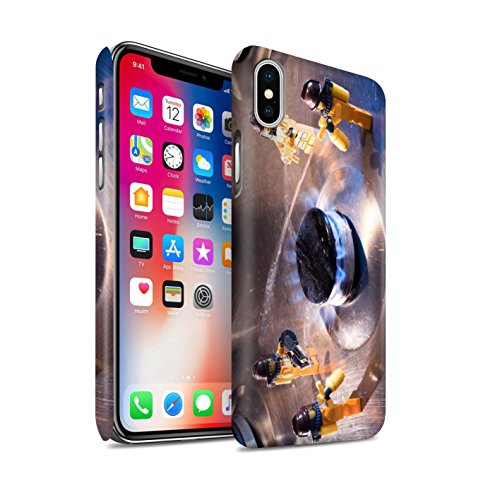 STUFF4 Matte Snap-On Hülle / Case für Apple iPhone X/10 / Große Flucht Muster / Vorstellen Kollektion Fehlalarm