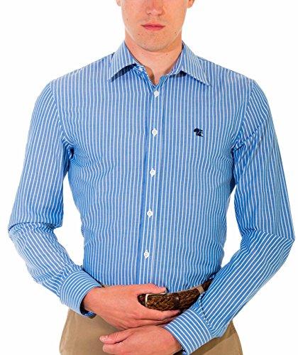 Chemise Business Pour Homme, Cintrée, Manches Courtes, Noire, Bleu, Gris, disponible en tailles XS-6XL Bleu Mix