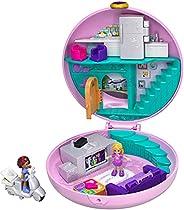 Polly Pocket GDK82 - Pocket World Donut Pajama Party-lekväska utformad som en donut med Polly- och Shani-docko