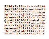 Set von 4 PVC Bunte Dreieck Tabelle Platzdeckchen 40x29cm