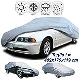 Dobo - Bâche de protection imperméable en PVC, renforcée avec du PEVA, pour voiture, protection contre la pluie, le soleil et le givre L gris clair (ral 7035)