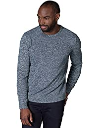 WoolOvers Pull à col rond texturé - Homme - Pur Coton