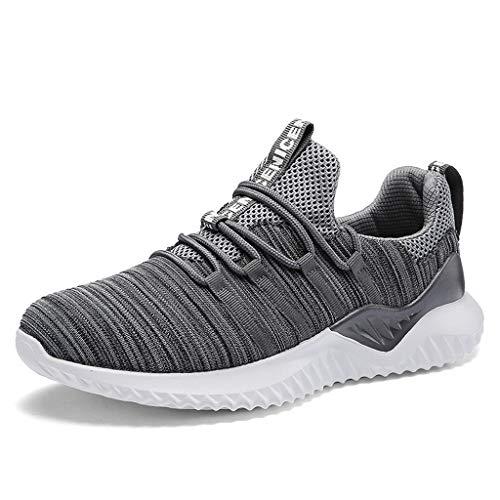 YEARNLY Laufschuhe Herren Damen Turnschuhe Sportschuhe Straßenlaufschuhe Sneaker Atmungsaktiv Rutschfest Trainer für Running Fitness Gym Outdoor