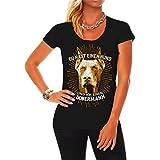 Frauen und Damen T-Shirt Du hast einen Hund und ich einen Dobermann