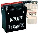 Xfight-Parts Batterie BTX7L-BS 12V 6Ah 0,33 Liter DIN 50614 MTF Wartungsfrei 114x131x71mm 0.537.994-6 für Aprilia SR 125 1999-2001