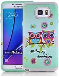 yoowei® (3en 1) Samsung Galaxy Note 5Protección de 360° Protección de cuerpo completo case, [Armorbox] [Heavy Duty protección] reductor de impacto híbrido resistente carcasa para Samsung Galaxy Note 5