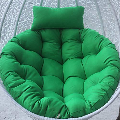 Verdickt Apple (QJIAXING Korbkissen rund ohne Halterung einfarbig verdickt abnehmbares und waschbares Kissen für Schaukel (nur Kissen),Green)