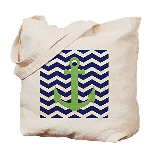 Duschvorhänge, Press Cafe (CafePress–Chevron Anchor Duschvorhang–Leinwand Natur Tasche, Reinigungstuch Einkaufstasche, canvas, khaki, S)