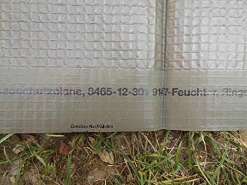 Unterlegplane Nässeschutzplane Elefantenhaut Original Bundeswehr Farbe oliv ca. 2,20 x 1,00 m