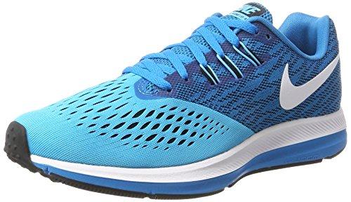 75ddec90c56f7 Nike Men's Air Zoom Winflo 4 Running Shoes, Blue (Blue Orbit/White ...