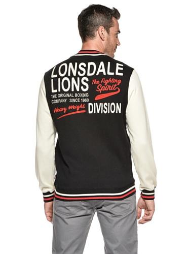 Lonsdale Herren College Jacke Delona Black