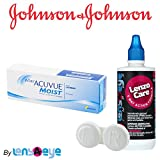 #10: Johnson & Johnson Acuvue 1 Day Moist Contact Lens (30 Lens Pack) with Free Lens Care Kit By Lens4Eye