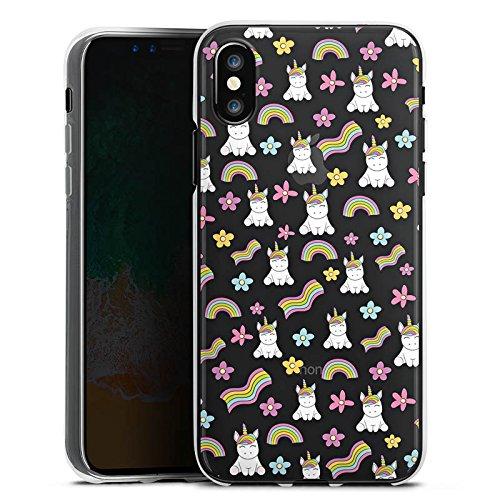 Apple iPhone 5c Hülle Case Handyhülle Einhorn ohne Hintergrund Muster Silikon Case transparent