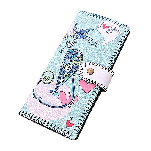 Quaan Exquisit Frau Süss Brieftasche Mode Karikatur Charakter Lange Brieftasche Münze Geldbörse Handtasche Klein Münze Reißverschluss Telefon Geschenk elegant Party Vorabend Veranstaltungen Paket