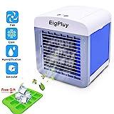 Portable Refroidisseur D'air 4 en 1 Petit Climatiseur portatif, USB de bureau Ventilateur, Mini Refroidisseur D'air Evaporatif avec Humidificateur et...