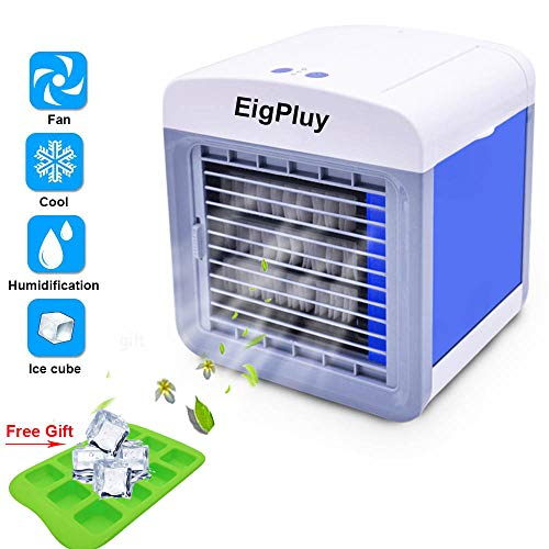 EigPluy Personal 4 Air Cooler in 1 Mini Portable Air Conditioner USB Desktop FanAire Evaporative Cooler with Humidifier and Purifier for Home / Office / Car / Outdoor