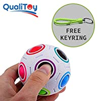 Qualitoy Bola de colores para niños y adultos de gran calidad con llavero de regalo, magic ball, regalo perfecto y original para navidades y amigo invisible, juguete anti estres de QualiToy