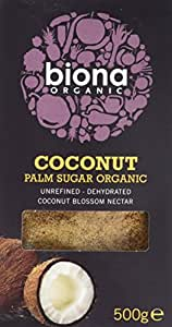 Biona Organic Coconut Palm Sugar 500g (Pack of 3)