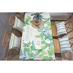 Max Home@ Tabla fresca Mantel Mantel redondo Mantel cuadrado de tela gruesa de diseño original Mesa de café ( Tamaño : 100*140 )