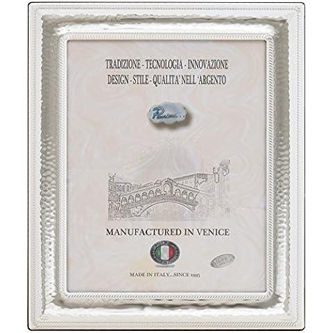 VENEZIA Cornice per Foto Portafoto Argento Artigianale Made in Italy Foto ca. 20x30 cm