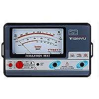 TY6017 Medidor de resistencia al aislamiento 500 V, prueba de aislamiento analógico, 0,5 – 1000 m.
