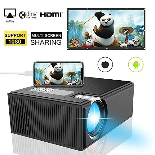 720P Video Beamer, iBosi Cheng LCD Heimkino Beamer 2500 Lumens Unterstützt 1080P Video Projektor Kompatibel mit Fire TV Stick Xbox Smartphone PC mit HDMI VGA USB AV SD für Movie Game Party