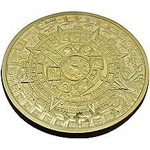GAOHOU – ® Hi de elec Oro überzogenes Aztec Maya Calendario Moneda conmemorativa coleccionistas Colección