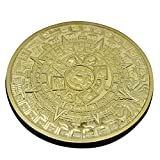 GAOHOU®Hi-elec Gold überzogenes Aztec Maya Kalender Gedenkmünze Sammler Sammlung