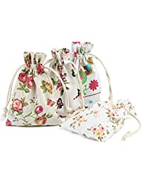 Naler Gift Bags Pouches for Jewellery Beads Charms Storage Wedding Favor