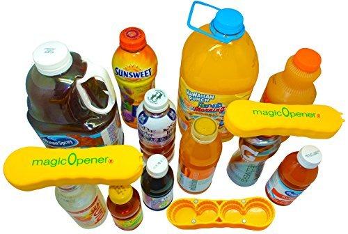 Nur für größere Kunststoff-Kappen-Öffner, Arthritis-Flaschenöffner, Senioren helfen dabei, magischen Öffner Plus Magnetische und ergonomische bereit für 8 große Plastikflaschen, drehbar große Kappen -