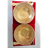 GS Collection Silver & Gold Plated Designer Dry Fruits Bowl Serving Set Perfect, Diwali Gifts For Relatives