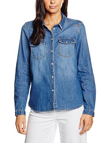 NOISY MAY NMCATHY DENIM SHIRT MED BLUE NOOS, Camicia Donna, Blu (Medium Blue Denim), 42 (Taglia Produttore: X-Large)
