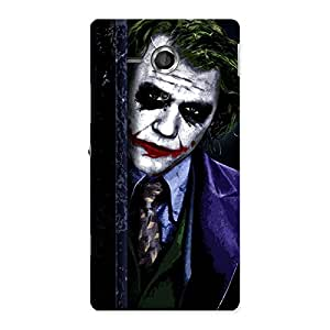 Delighted Joke Sneeking Multicolor Back Case Cover for Sony Xperia SP