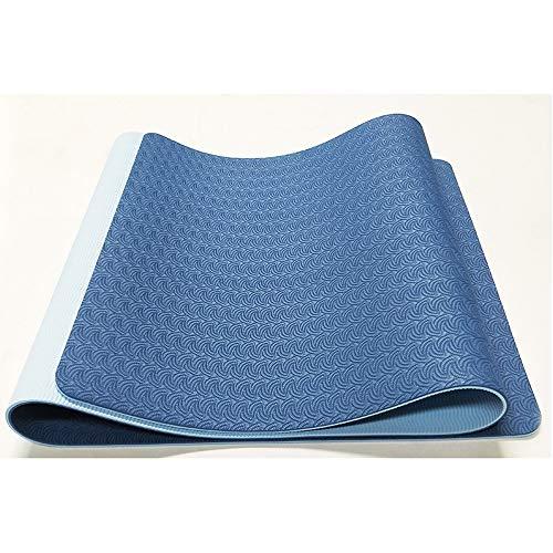SIYUZ Fortgeschrittene Yogamatten Sportmatten Fitnessmatten Sportmatten Oder Schultergurte Für Den Haushalt Pilates-Turnmatten Yogamatten Phthalatfrei Sgs-Test,Blue