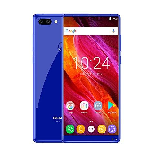 """OUKITEL MIX 2 Téléphones Mobiles 4G Android 7.0 6 Go de RAM 64 Go ROM Octa Core Smartphone Triple caméras (13MP + 2MP + 21MP) 5,99 """"18: 9 2160 * 1080 FHD Téléphone Portable"""