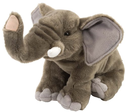 Wild Republic Elephant Plush Soft Toy, Cuddlekins Cuddly Toys, Gifts for Kids 30cm