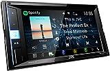 JVC KW-M450BT Digital-Media-2-Din-Autoradio mit 15,7 cm Touchscreen (2X USB, Bluetooth Freisprecheinrichtung, Android-/Apple, Spotify Control, WebLink, Waze App Link) Schwarz