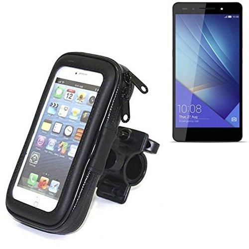 Für Huawei Honor 7 Dual SIM Fahrrad Halterung Handy Halterung Lenkstange Fahrrad Halter Motorrad Bike mount Smartphone Halter für Huawei Honor 7 Dual SIM Wasserabweisend, regensicher, spritzwasserdicht - K-S-Trade(TM)