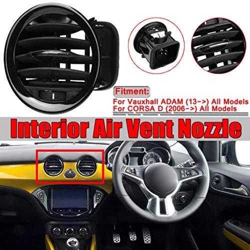 YSHtanj Innenraumdüse Lüftungsdüse für Autoteile Innenraumdüse Luftentlüftung/Kühlerdüse für Opel ADAM/Corsa D MK III