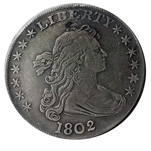Bespoke Souvenirs Rare Antique USA United States 1802 Liberty Silver Color Dollar Coin Seltene Münze -