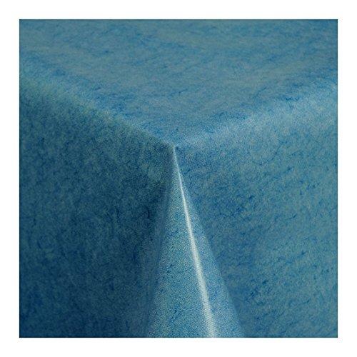 Wachstuch-Tischdecke-Wachstischdecke-Gartentischdecke-Abwaschbar-Meterware-Lnge-whlbar-Uni-Blau-Blau-Melliert-225-01