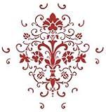 2 designs pochoir coin d cor style shabby chic vintage fran ais a4 de d cora - Pochoir pour peinture murale ...