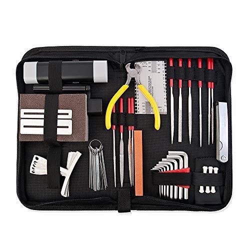 lyws komplett Care Set der Gitarre Reparatur und Wartung Werkzeuge Set w/Fall