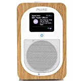 Pure Evoke H3 Portable DAB/DAB+/FM Radio with Bluetooth, Dual Alarms and Full Colour Display - Oak