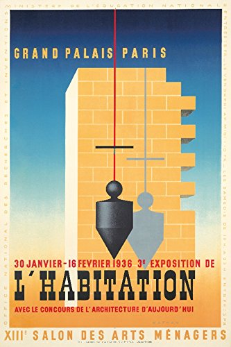 L 'habitation-30janvier-16Fevrier 1936Vintage Poster (Künstler: nathan-garamond) Frankreich C. 1936, Papier, multi, 12 x 18 Art Print
