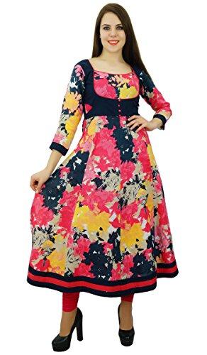 Phagun Coton Fleuri Anarkali Femmes Kurti Top Tunique De Kurta Designer Robe Ethniques Multicolore