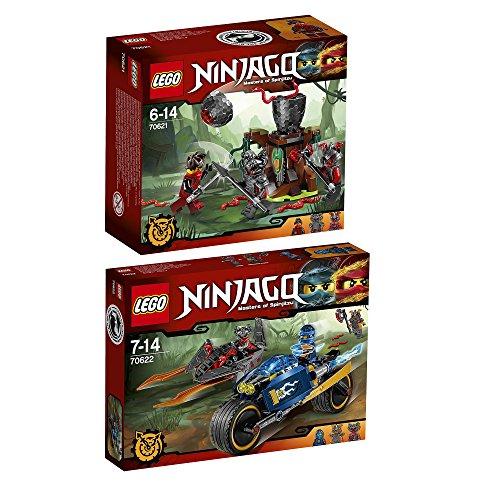 Preisvergleich Produktbild Lego Ninjago 2er Set 70621 70622 Vermillion Falle + Wustenflitzer
