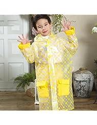 Raincoat niños impermeables Impermeable Impermeable Poncho Student (Azul, Rosa, Amarillo) ( Color : Amarillo , Tamaño : M )