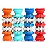 Altsommer Hunde Molar Stick aus Silikon,Hunde Zähne Ausbildung Spielzeug, Hunde Zahnbürste mit Zahnpflege,Haustier Molar-Stock Biss Widerstand Lebensmittel-Leckage-Spielzeug (Hellblau)