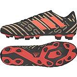 adidas Herren Nemeziz Messi 17.4 FxG Fußballschuhe, Schwarz (Core Black/Solar Red/Tactile Gold Metallic), 44 EU